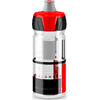 Elite Crystal Ombra Trinkflasche 550ml transparent/rot